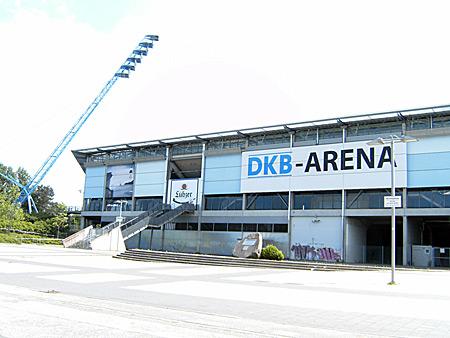 Auf diesem Bild sieht man die DKB-Arena.