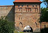 Auf diesem Tor sieht man das Kuhtor und ein Stück Stadtmauer.