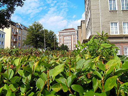 Auf diesem Bild sieht man das Polizeigebäude in Rostock.