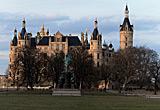 Auf diesem Bild sieht man das Schloss von Schwerin.