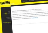Auf diesem Bild sieht man einen Screenshot von abiko-mv.morloc.de.